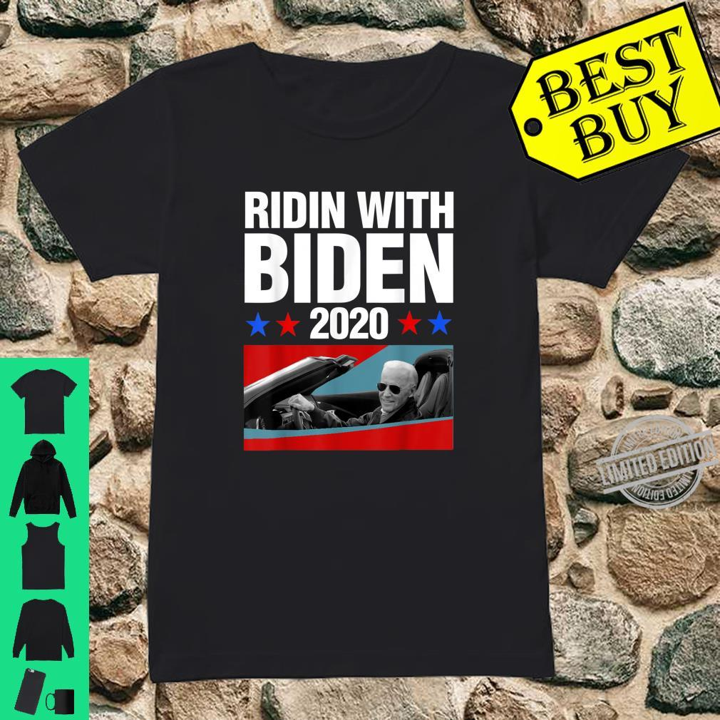 Ridin With Biden 2020 Vintage Car Joe Biden President Shirt ladies tee