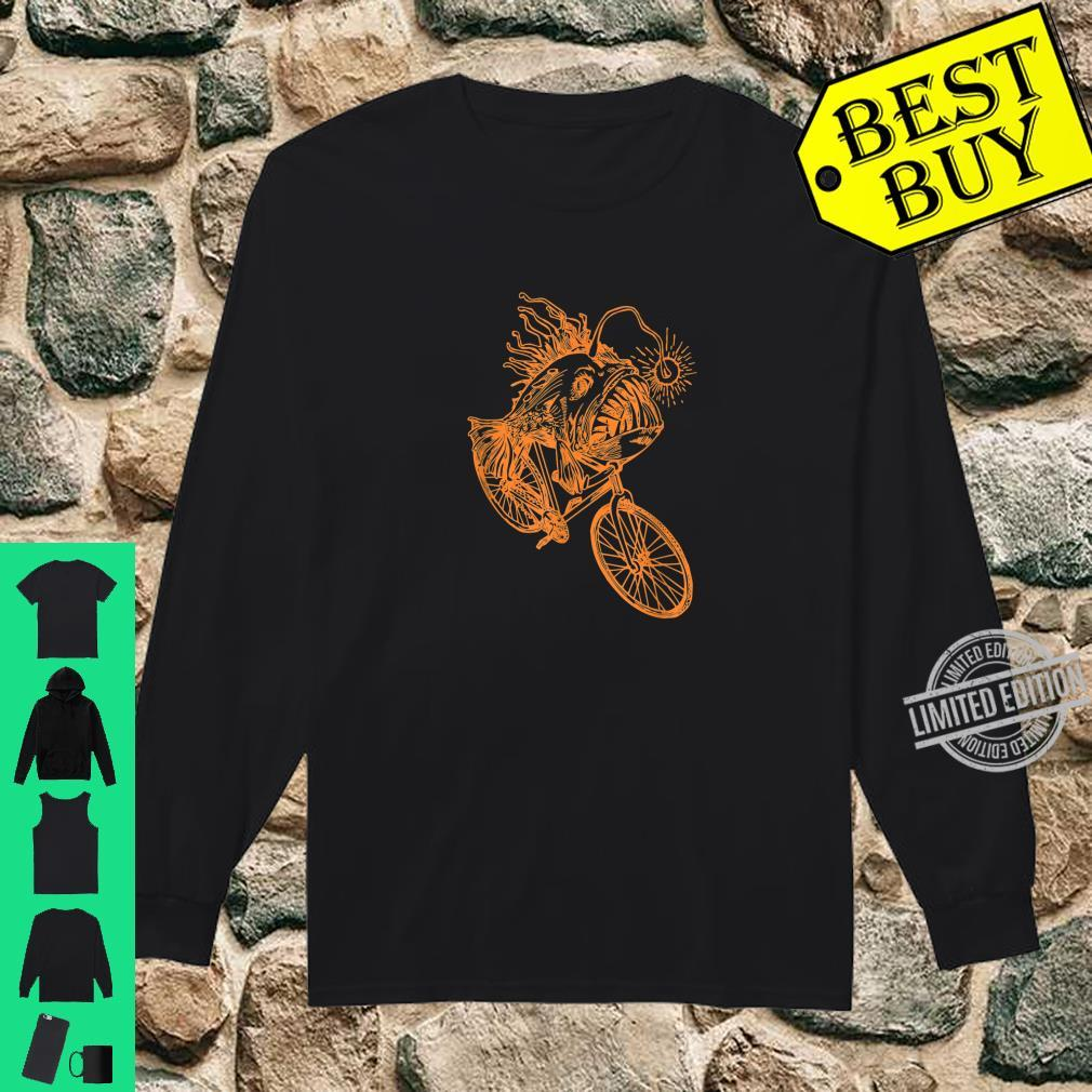 SEEMBO Anglerfish Cycling Bicycle Bicycling Biking Fun Bike Shirt long sleeved