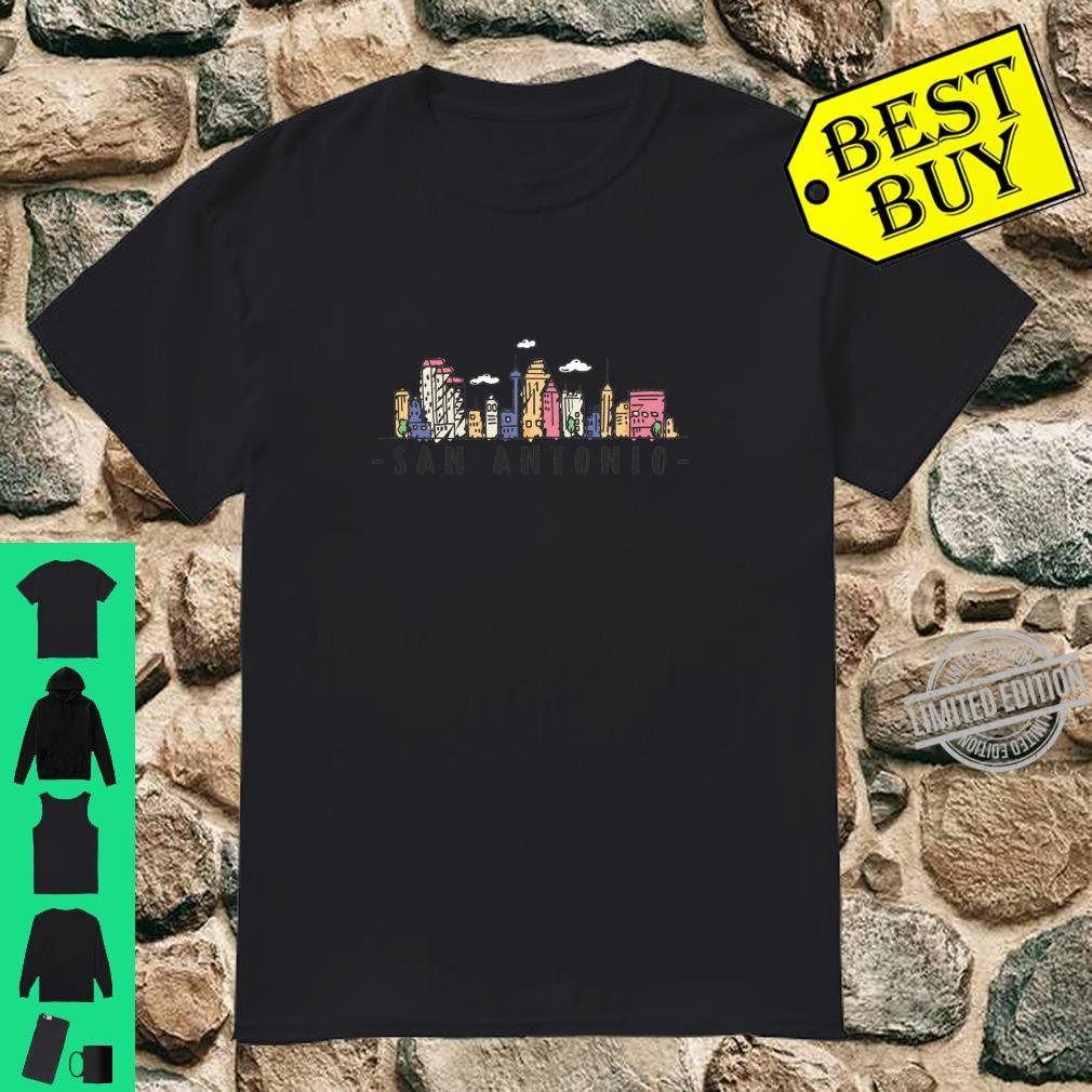 San Antonio Skyline Texas Pride City Souvenir Shirt
