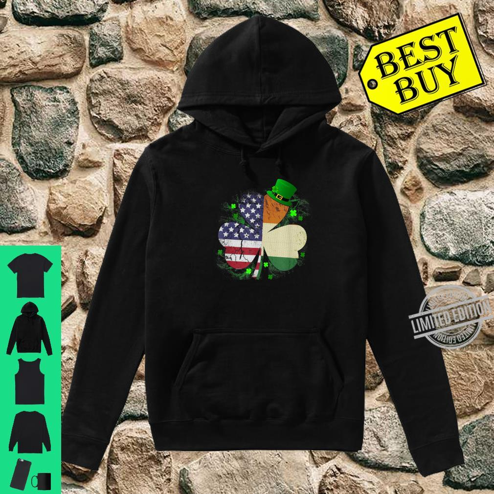 St. Patrick's Day Irish American Flag Shirt Shamrock Shirt hoodie