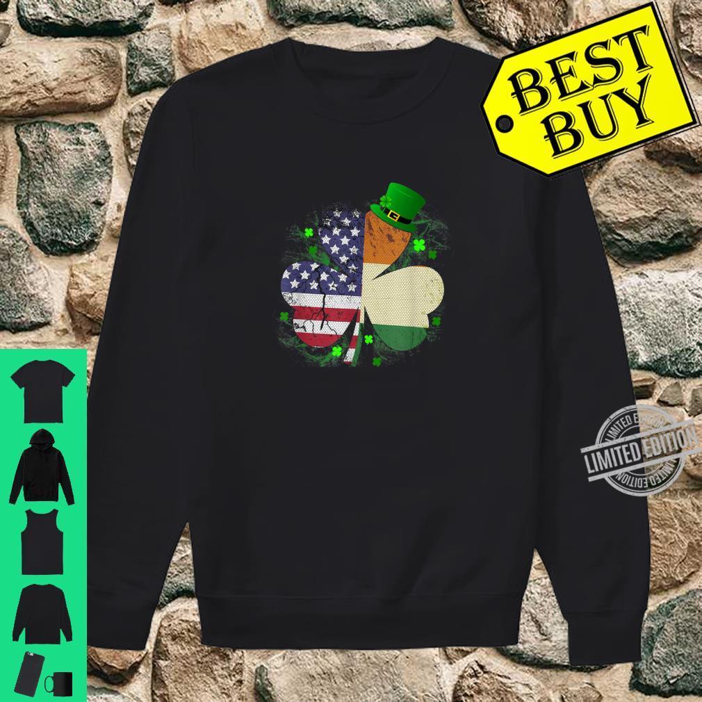 St. Patrick's Day Irish American Flag Shirt Shamrock Shirt sweater
