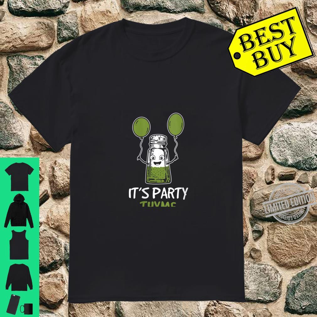 Womens Herbs Design It's Party Thyme Play on Words Shirt