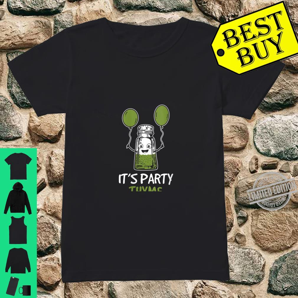 Womens Herbs Design It's Party Thyme Play on Words Shirt ladies tee