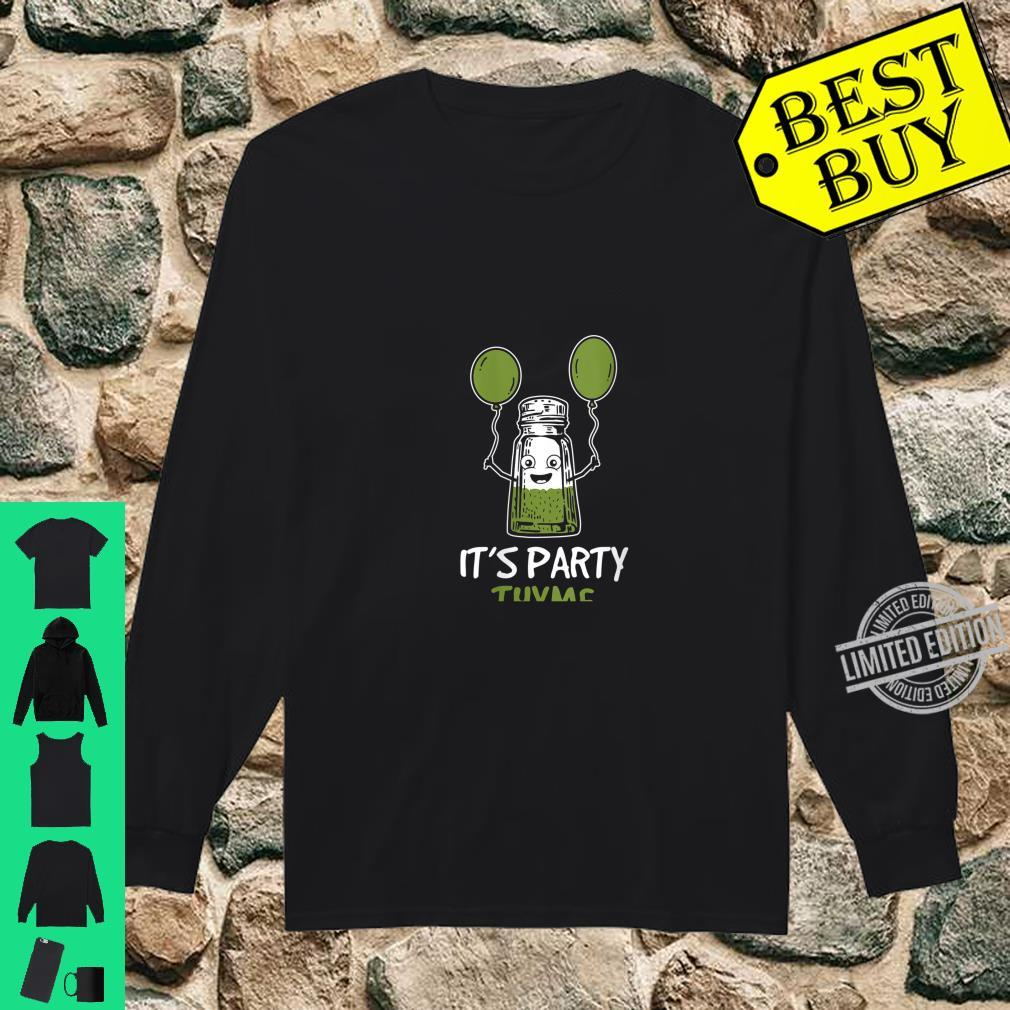 Womens Herbs Design It's Party Thyme Play on Words Shirt long sleeved