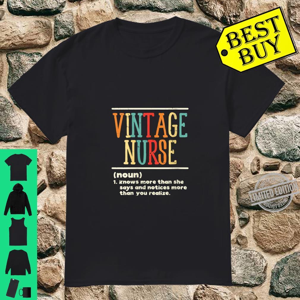 Womens Vintage Nurse Definition Nursing RN ER ED ICU L&D Shirt