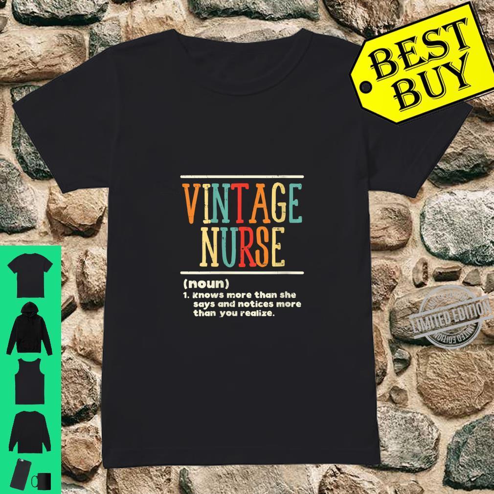 Womens Vintage Nurse Definition Nursing RN ER ED ICU L&D Shirt ladies tee