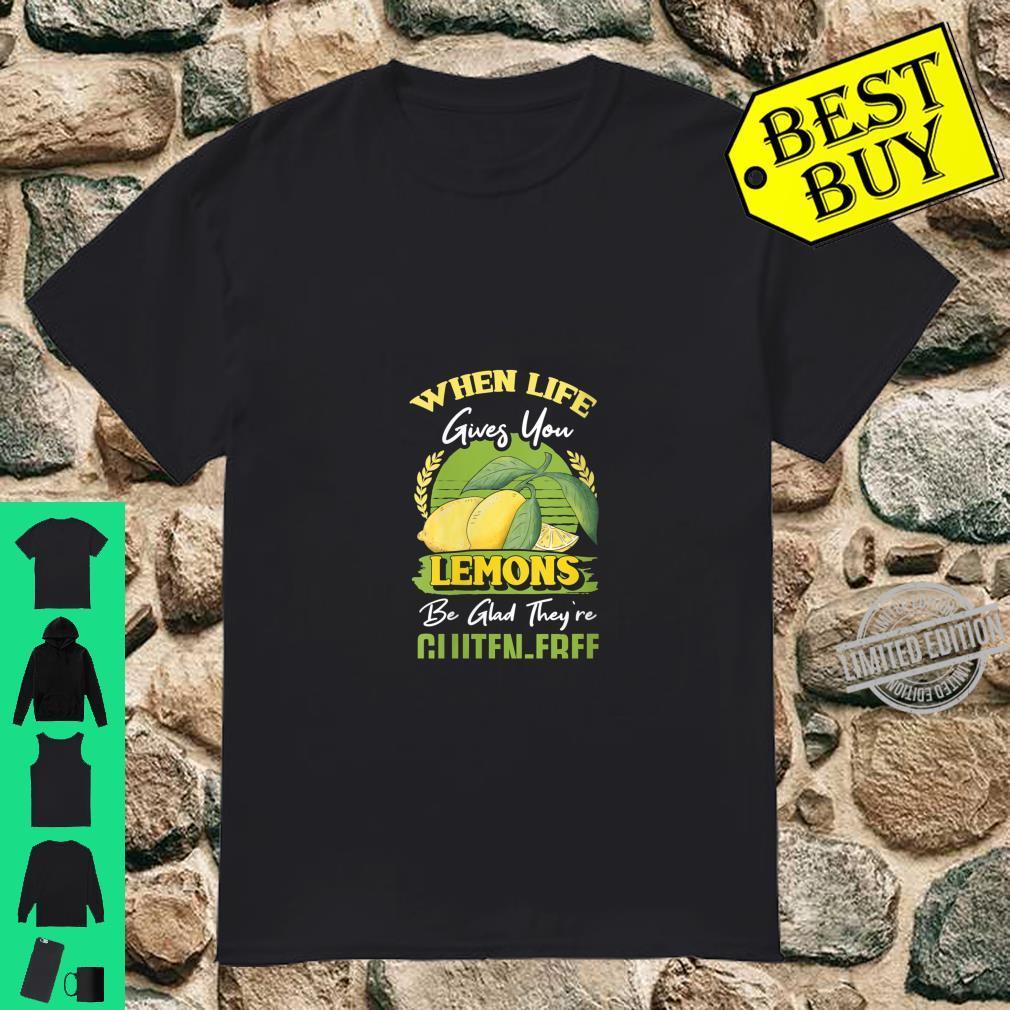 Womens When Life Gives You Lemons Vegan Glutenfree Diet Shirt